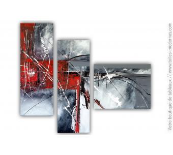 Tableau gris et noir abstrait : Passé détaché