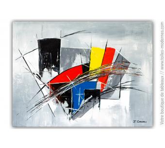 Tableau gris et coloré : En liberté