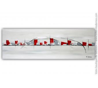 Déco gris blanc design avec une oeuvre d'art : Dans un lieu lointain