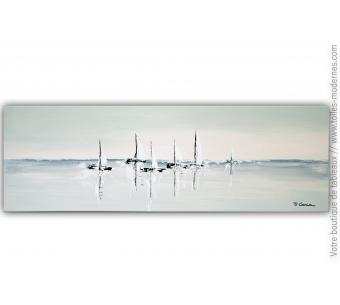 Déco bord de mer avec un tableau moderne : Illusion marine