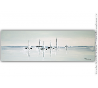 Tableau gris moderne : Illusion marine