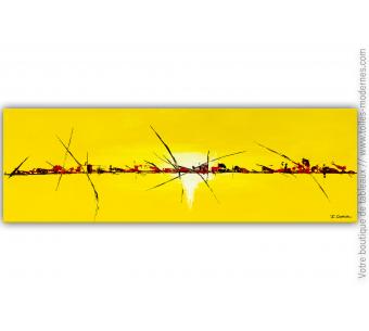 Décoration murale jaune design : Jeu de lumière