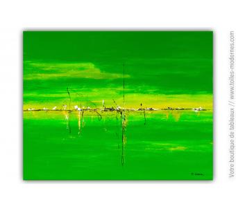 Tableau vert moderne : Coup d'éclat