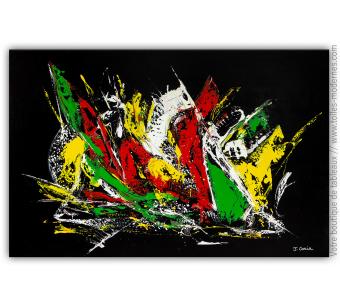 Tableau noir contemporain : Jeu de couleurs