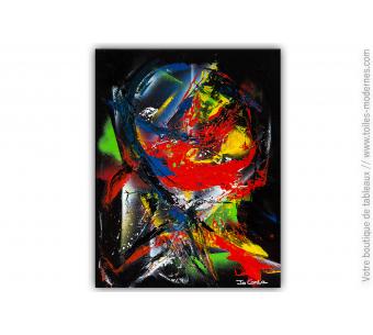 Création artistique noire et colorée : Un jeu magique