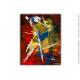 Déco colorée avec un tableau moderne : Réalité assourdissante