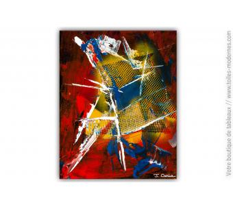 Tableau coloré abstrait : Réalité assourdissante