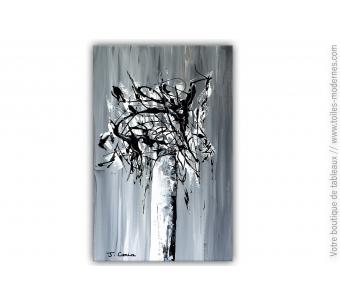 Tableau fleurs gris : Un souffle d'amour