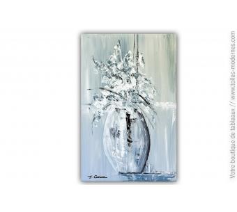 Tableau moderne : Fleurs blanches