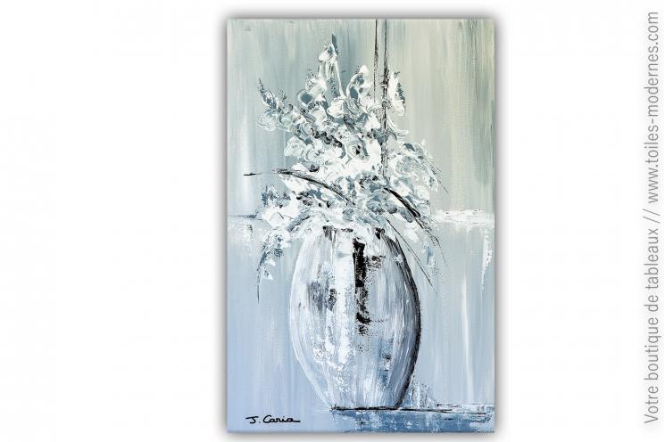 Tableau bouquet de fleurs blanches modernes