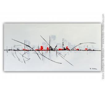 Objet déco gris design - tableau d'art minimaliste : Une vie apaisante