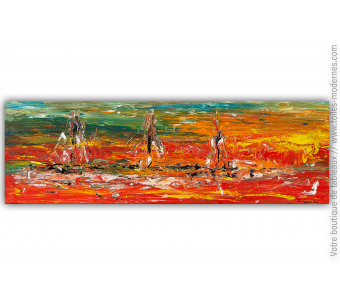 Tableau contemporain expressionniste : Au gré des couleurs