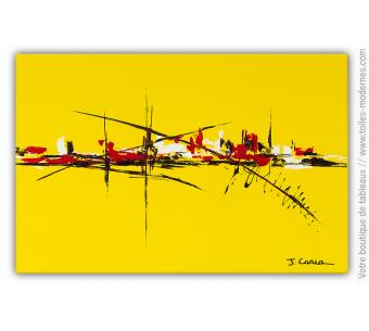Tableau jaune art contemporain : Chaleur excessive