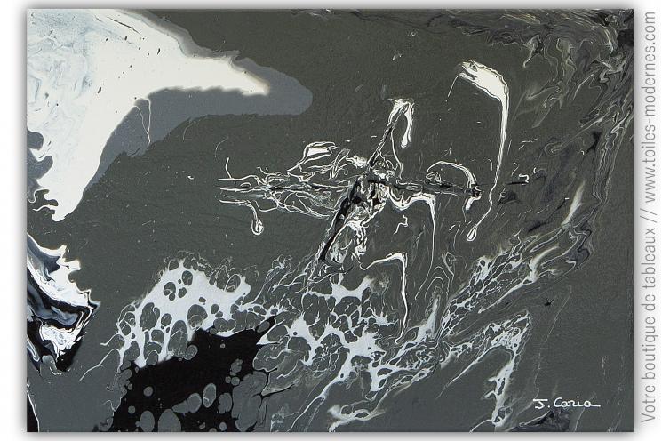 Oeuvre d'art moderne gris : Création marine