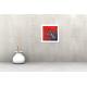 Tableau FLORA (tableau rouge) moderne