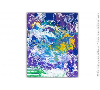 Peinture sur toile colorée unique, oeuvre d'art exceptionnelle : Sinope