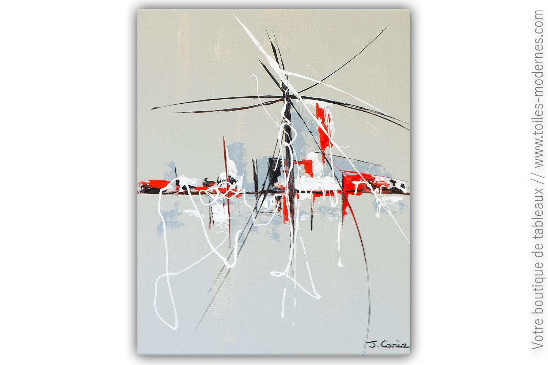 Peinture Sur Toile Gris Moderne Pas Chère : Hantise ...