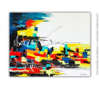 Peinture colorée sur toile contemporaine : Graffiti writers