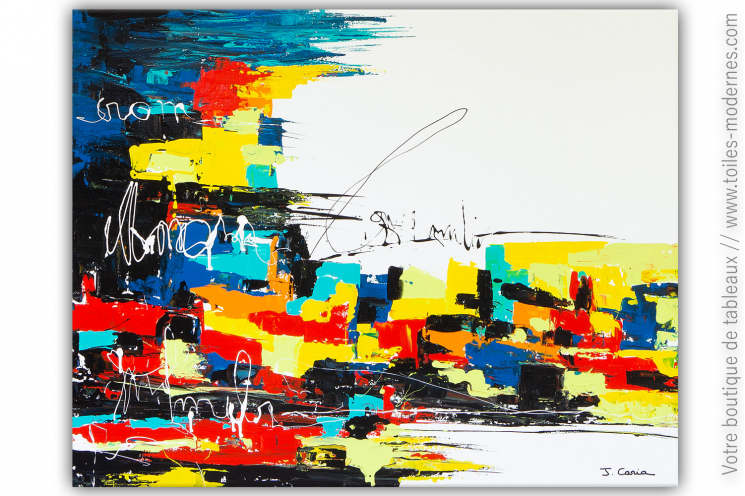 Grande peinture art urbain colorée : Graffiti writers