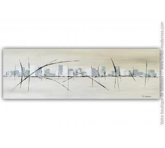 Déco murale taupe et beige : Une ville silencieuse