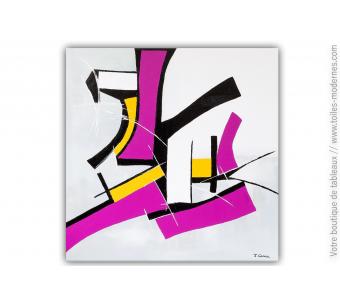 Déco murale rose fuchsia et gris contemporain : Nouvelle jeunesse