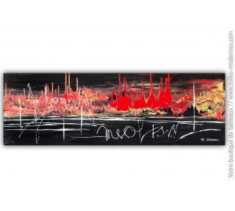 Tableau noir et rouge : Expression fougueuse