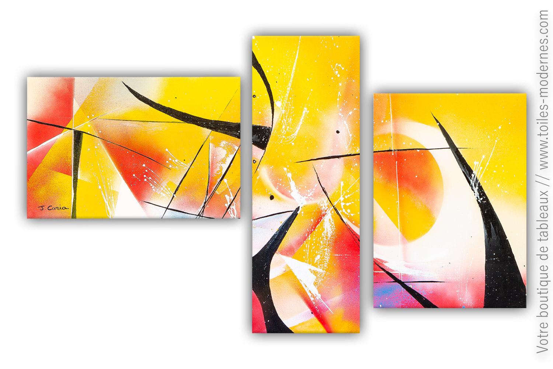 Tableau orange jaune rouge coup de chaleur tableau moderne - Symptome d un coup de chaleur ...