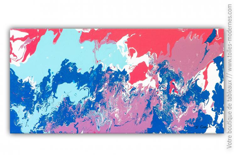 Déco couleurs pastel avec tableau bleu et rose : Himalia