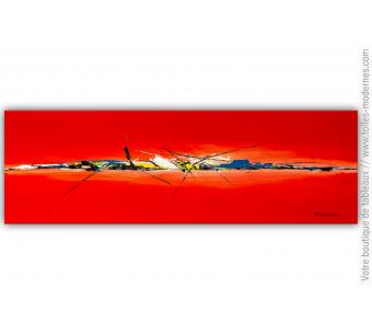 Déco design avec un tableau rouge moderne minimaliste : Au fil des émotions