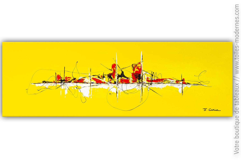 Objet Déco Jaune Tableau Contemporain Design : Une Vie Au Soleil ...
