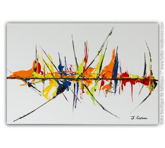 Déco contemporaine  blanche avec dessins colorés : Délicieux voyage