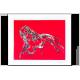 Tableau L'ENSORCELEUSE (tableau rouge) moderne