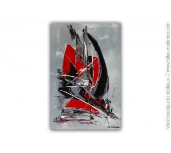Tableau rouge et noir pour déco design : Grain de folie