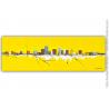 Très grand tableau jaune moderne design : Canicule extrême