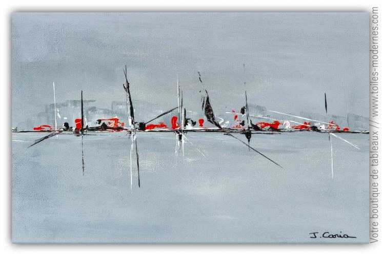 Peinture grise moderne design : Doux voyage
