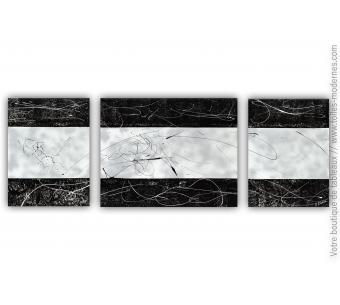 Tableau gris argenté moderne : Nuit magique