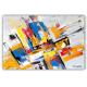 Déco murale colorée avec un tableau design : Expression vivante