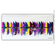 Déco mauve, prune, violet avec un tableau moderne : Les voiliers colorés