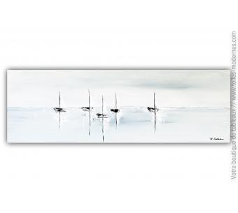 Déco bord de mer avec un grand tableau gris : Douce brise