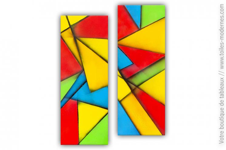 Art déco avec une création colorée : Composition décorative