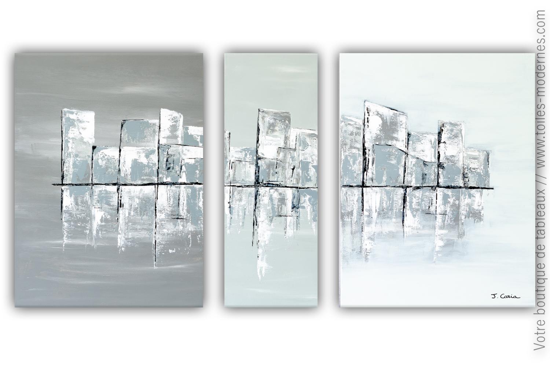 Triptyque gris blanc noir : Atlantic City