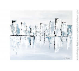 Grand tableau gris : Cité éternelle