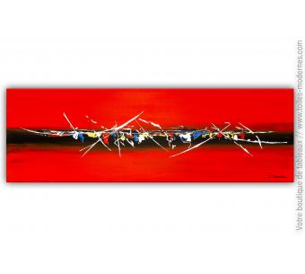 Peinture abstraite rouge : Une atmosphère enveloppante
