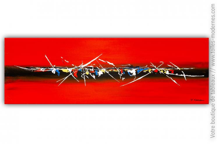 Déco rouge avec une grande création moderne : Une atmosphère enveloppante