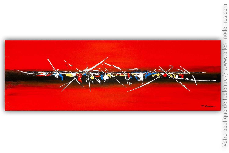 Peinture Abstraite Rouge Une Atmosphère Enveloppante