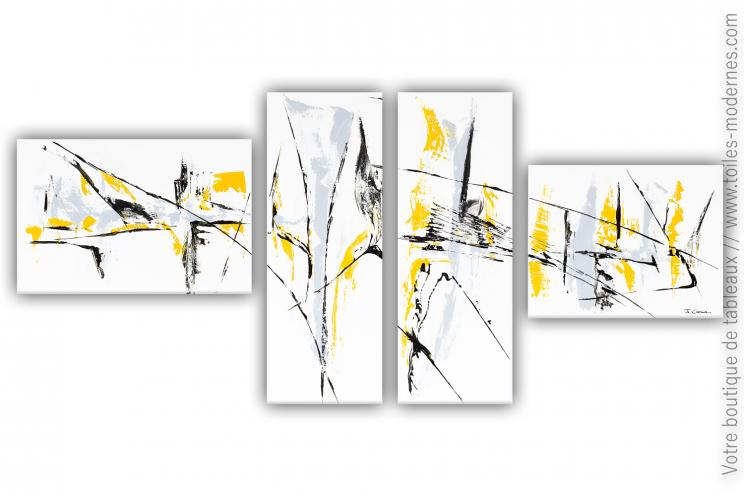 Peinture sur toile moderne blanche : Une vie désinvolte