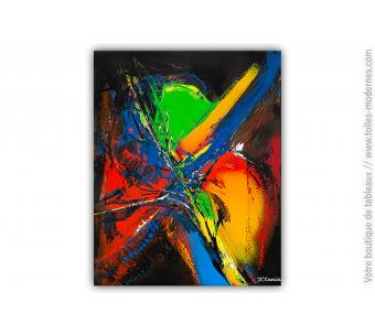 Peinture sur toile moderne : Les couleurs dans la nuit