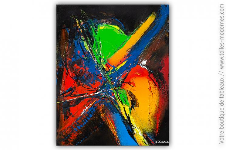Création noire et colorée contemporaine : Les couleurs dans la nuit