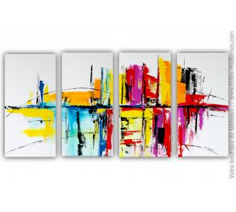 Tableau XXL coloré : Un conte fantastique