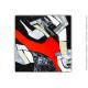 Toile géante XXL en touge et noir moderne :  Nouveau regard